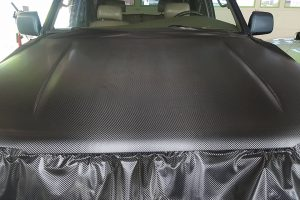 Carbon-hood-during