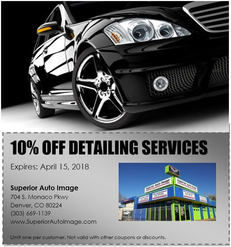 10 Percent Off Detailing Services