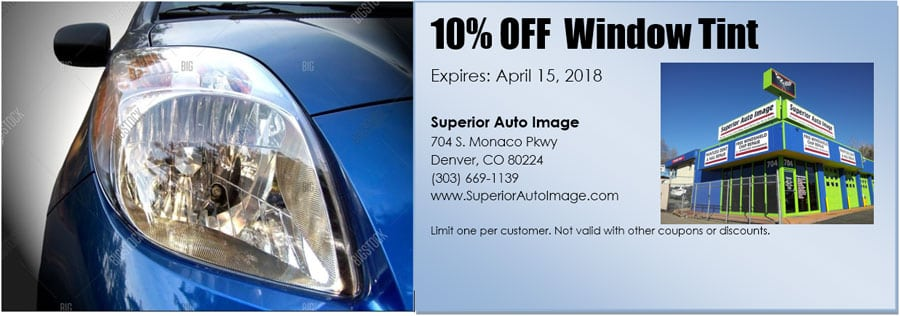 10% Off Window Tint