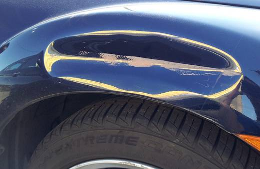 Paintless Dent Repair Denver Fender Before